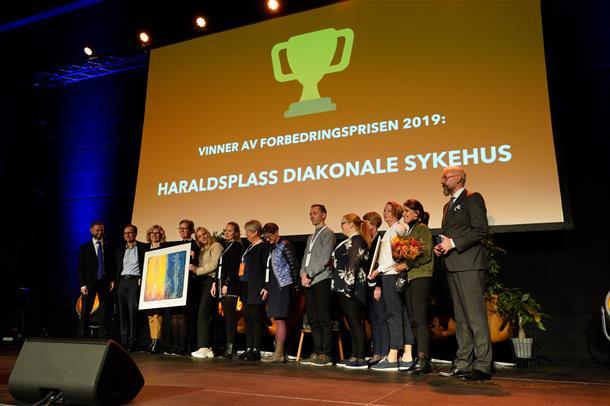 Haraldsplass Diakonale Sykehus vant den nasjonale Forbedringsprisen 2019.