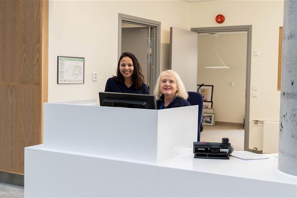 Ny resepsjon i nytt sykehusbygg