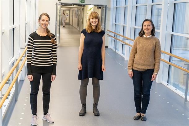 Forskerne Kristin Bentung Lygre, Ragnhild Eide Skogseth og Mette Nåmdal Vesterhus har fått midler til sine forskningsprosjekt.